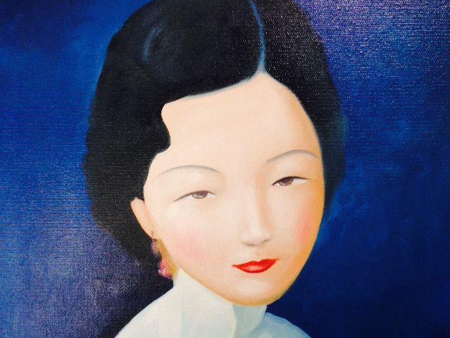 刘野-害羞的女人 纯手绘油画装饰画